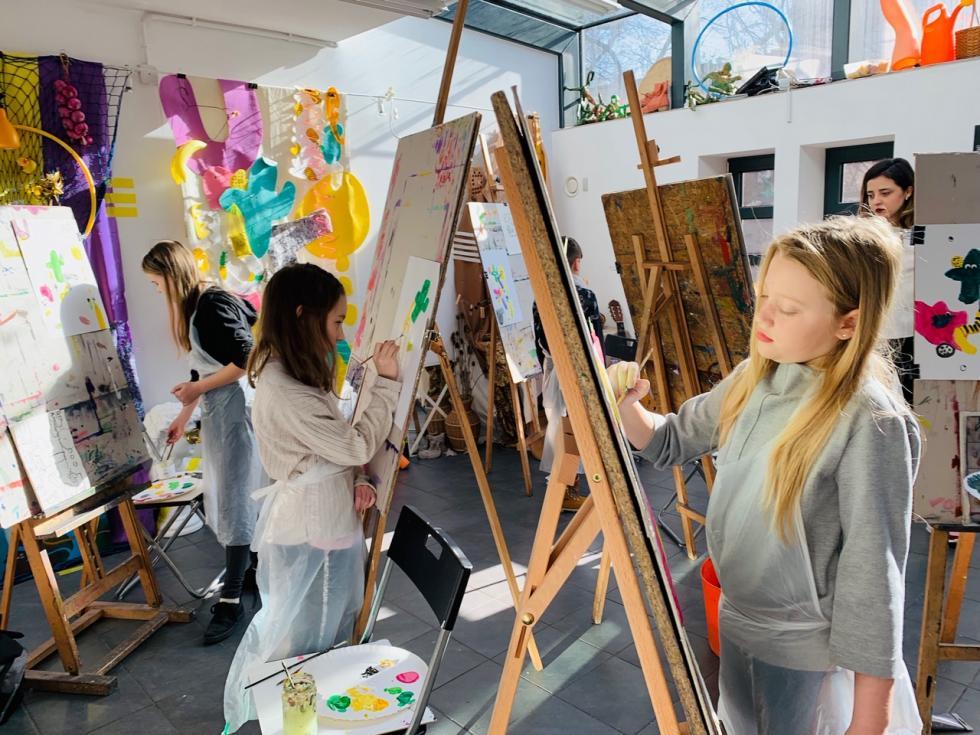 Wystawa prac najmłodszych uczniów Pracowni Otwartej