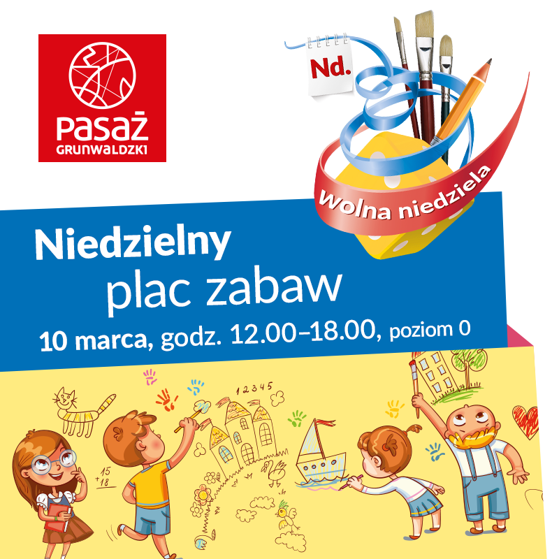 Aktywna niedziela zPasażem Grunwaldzkim – czyli gry izabawy dla dzieci