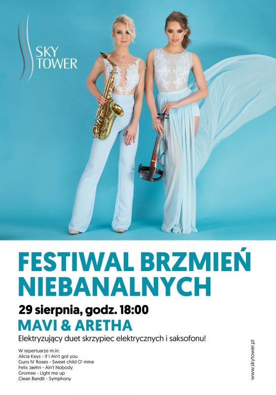 Sky Tower: Muzyczne show wwykonaniu duetu Mavi&Aretha
