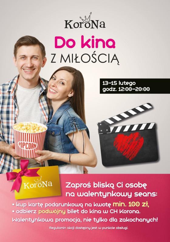 Centrum Korona rozdaje bilety dokina na Walentynki